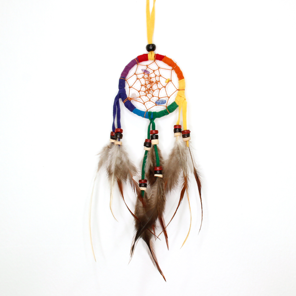 DreamCatcher Feather  Pendant  MULTICOLOR