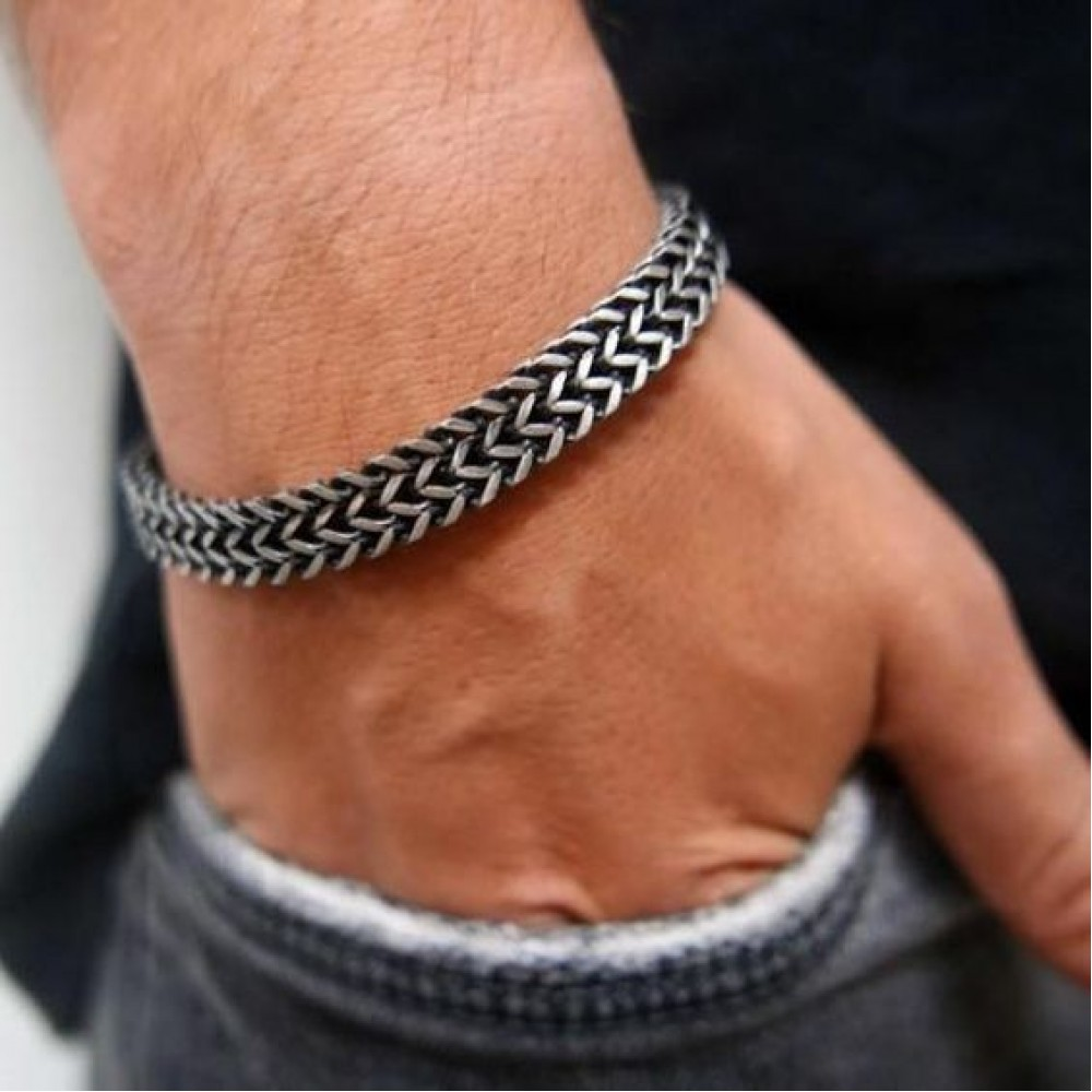 Man Bracelet in Steel