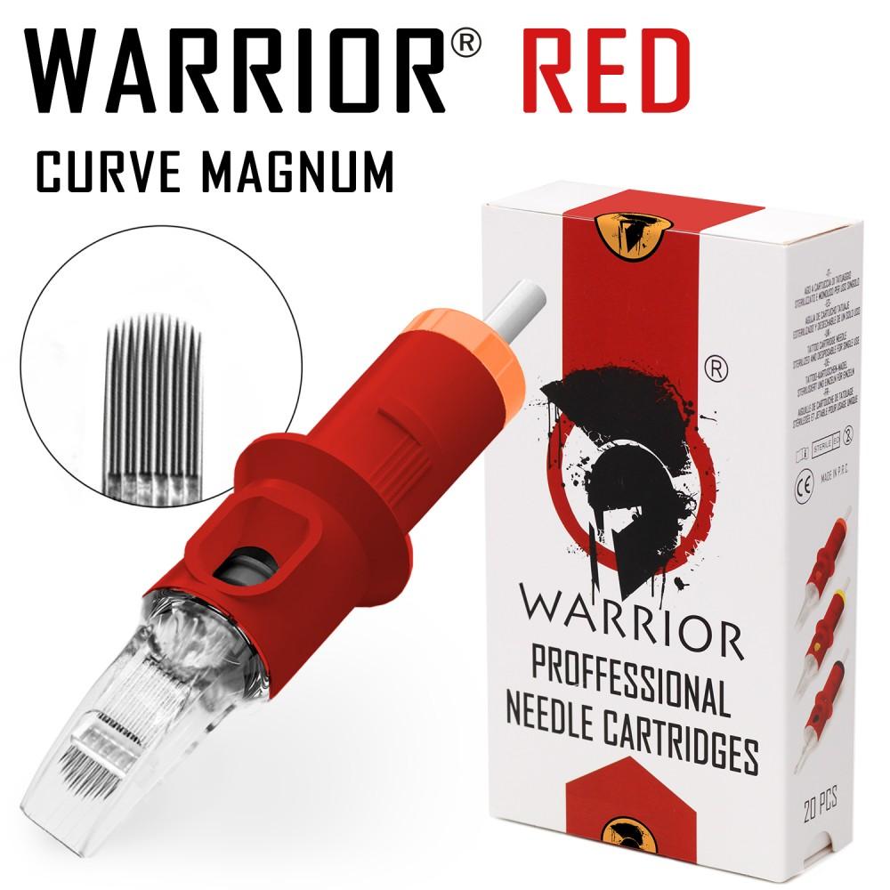 WARRIOR Red Tattoo Cartridges ( Ø 0.30mm Curve Magnum)