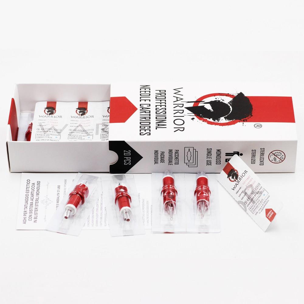 WARRIOR Red Tattoo Cartridges ( Ø 0.30mm Round Liner)