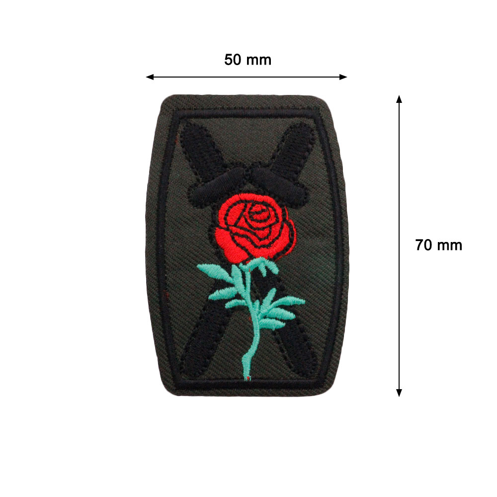 Patch  Shield with Rosa