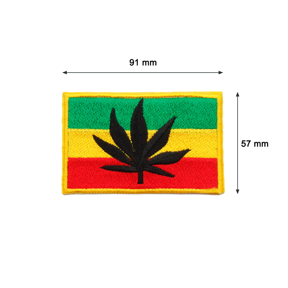 Patch   Tricolor Flag with  tch   Tricolor Flag with Leaf