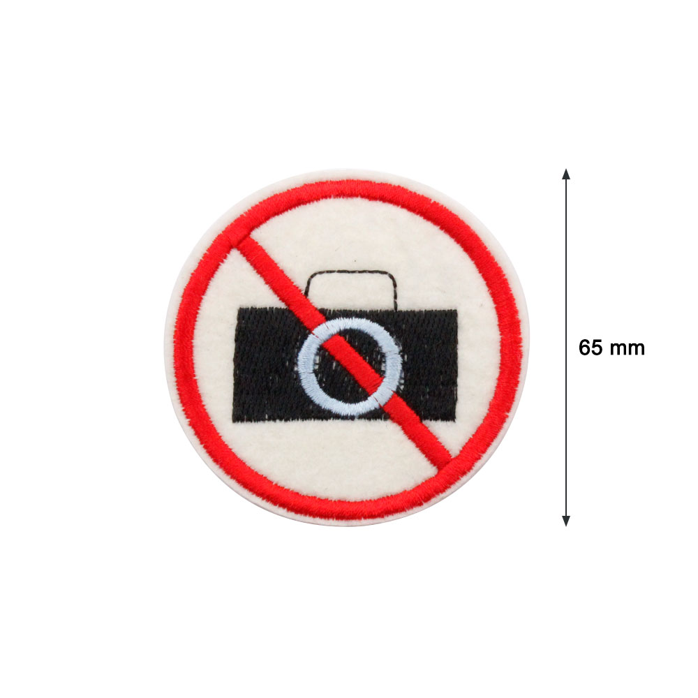 Patch  Sign of NO PHOTO