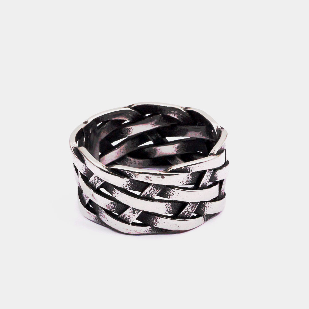 Braided Vintage Men's Ring
