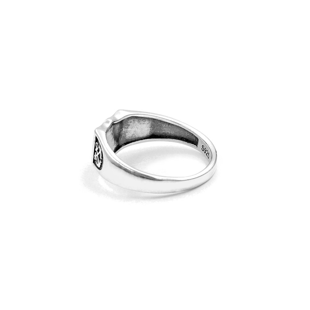 Silver Ring Double Anchor