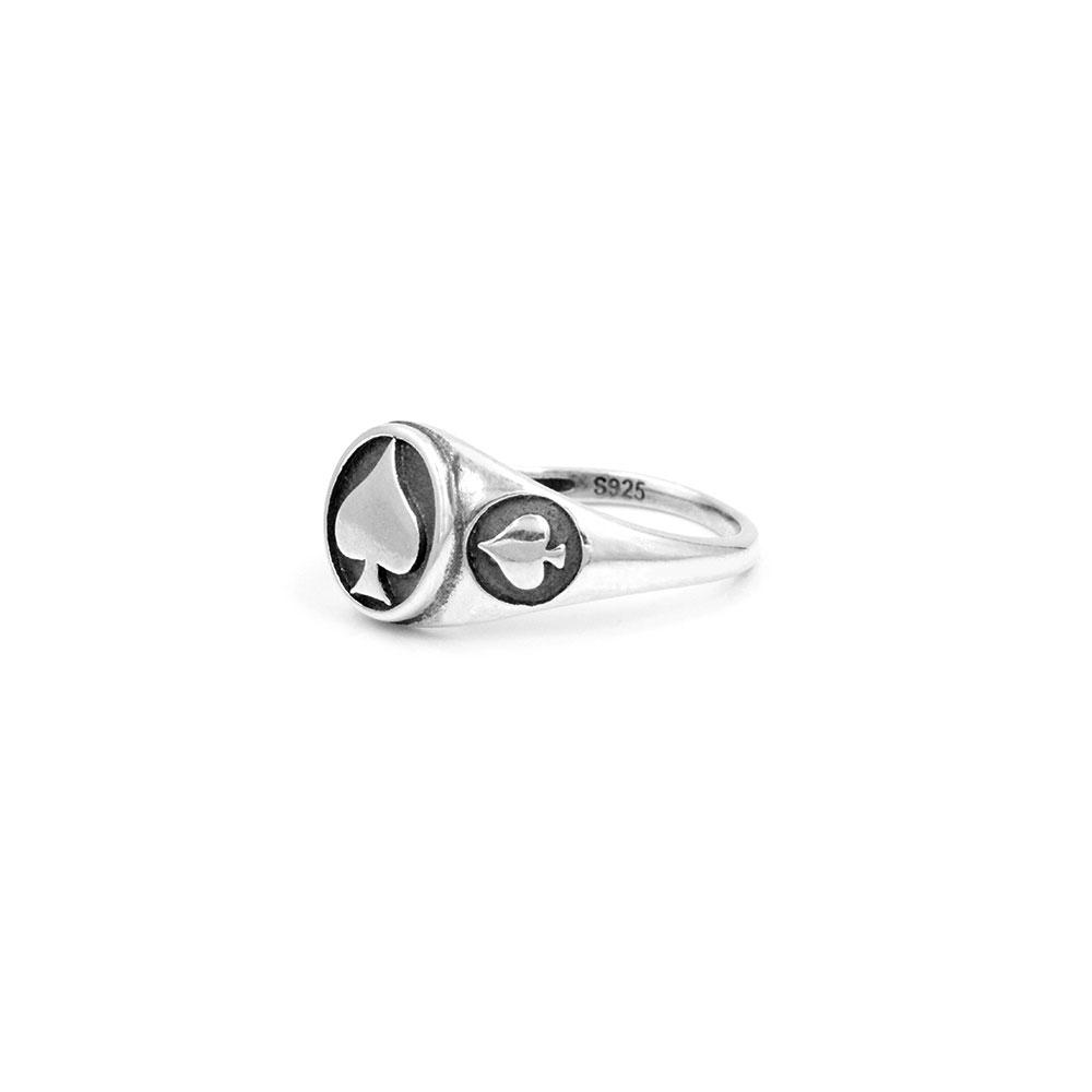 Silver Ring Peach Heart