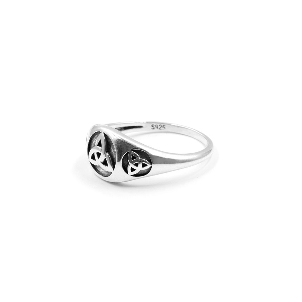 Silver Ring Celtic Knot Symbol
