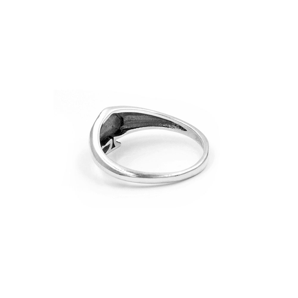 Silver Ring Peach Heart