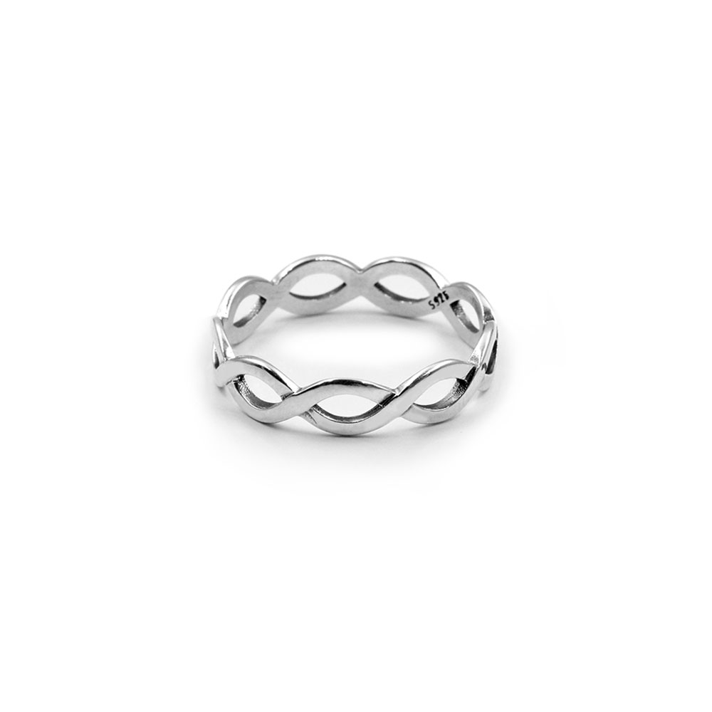 Silver Ring Weaved