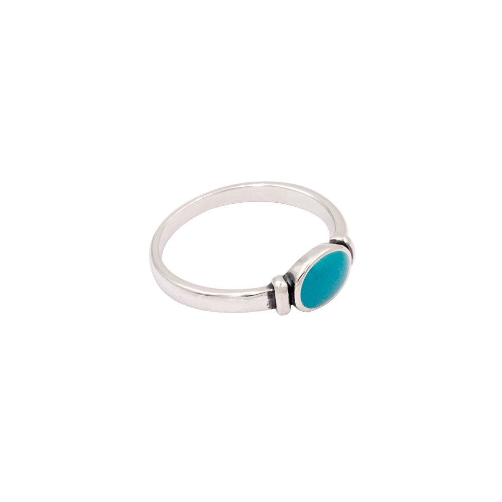 Silver Ring Blue Gem