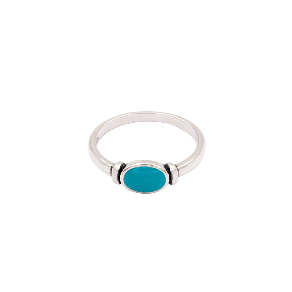 Oval Turquoise Gem Ring