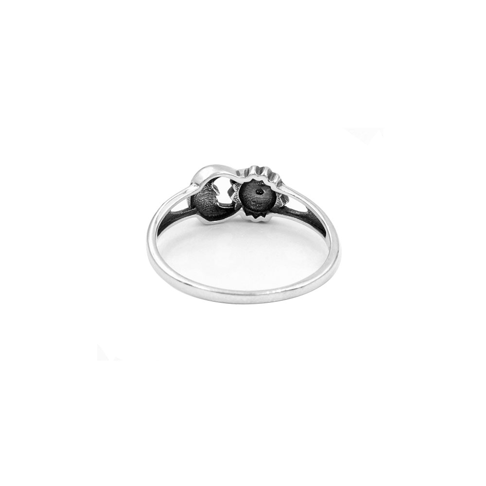 Silver Ring Sun and Moon