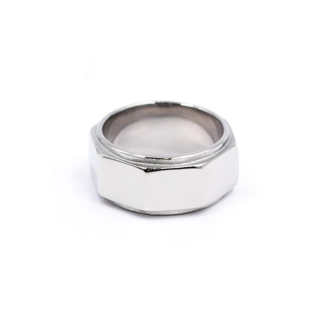 Classic Man Ring Shape of a Hexagonal Nut
