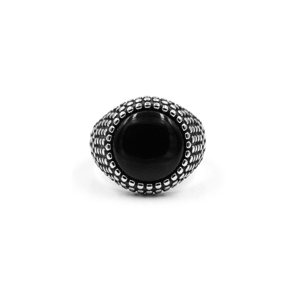 Ring Black Gem