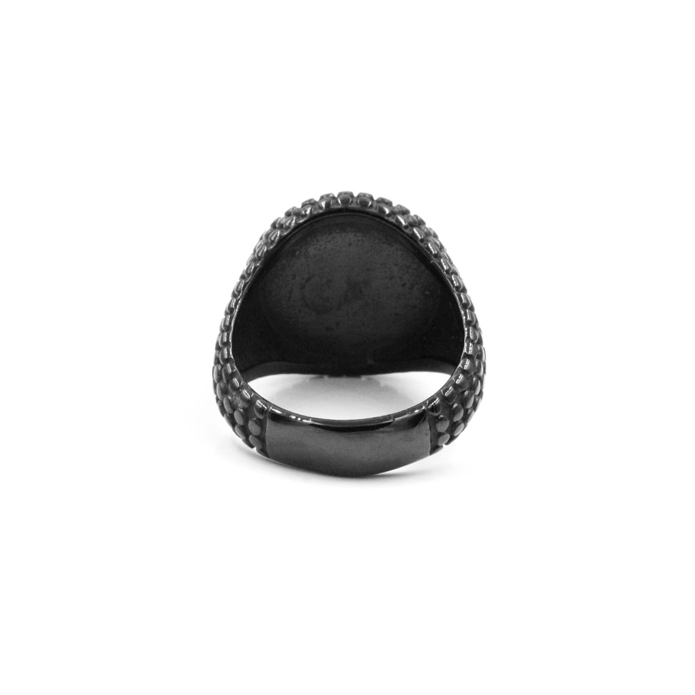 Black Ring with Red Gem