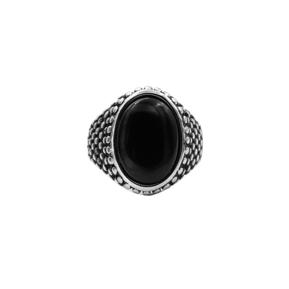 Ring Black oval