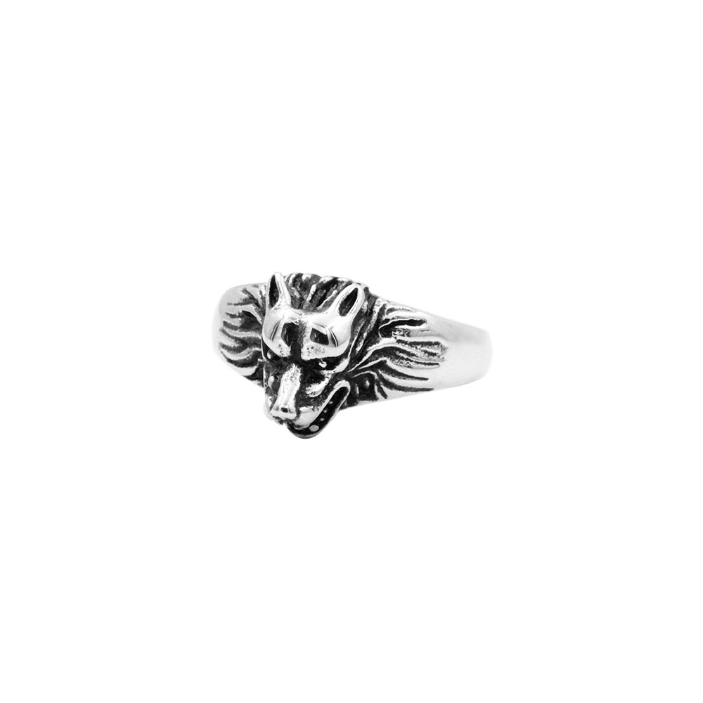 Ring with Wolf Head