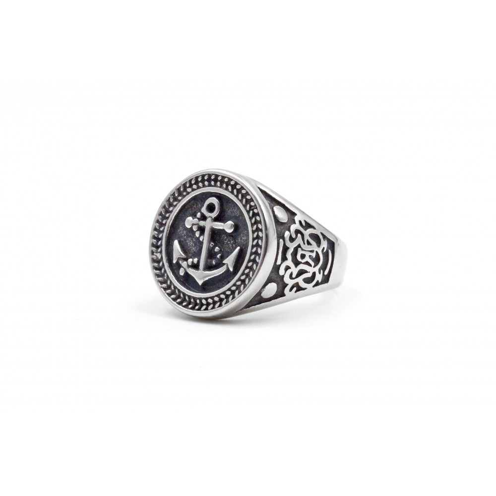 Circle Black Anchor Ring