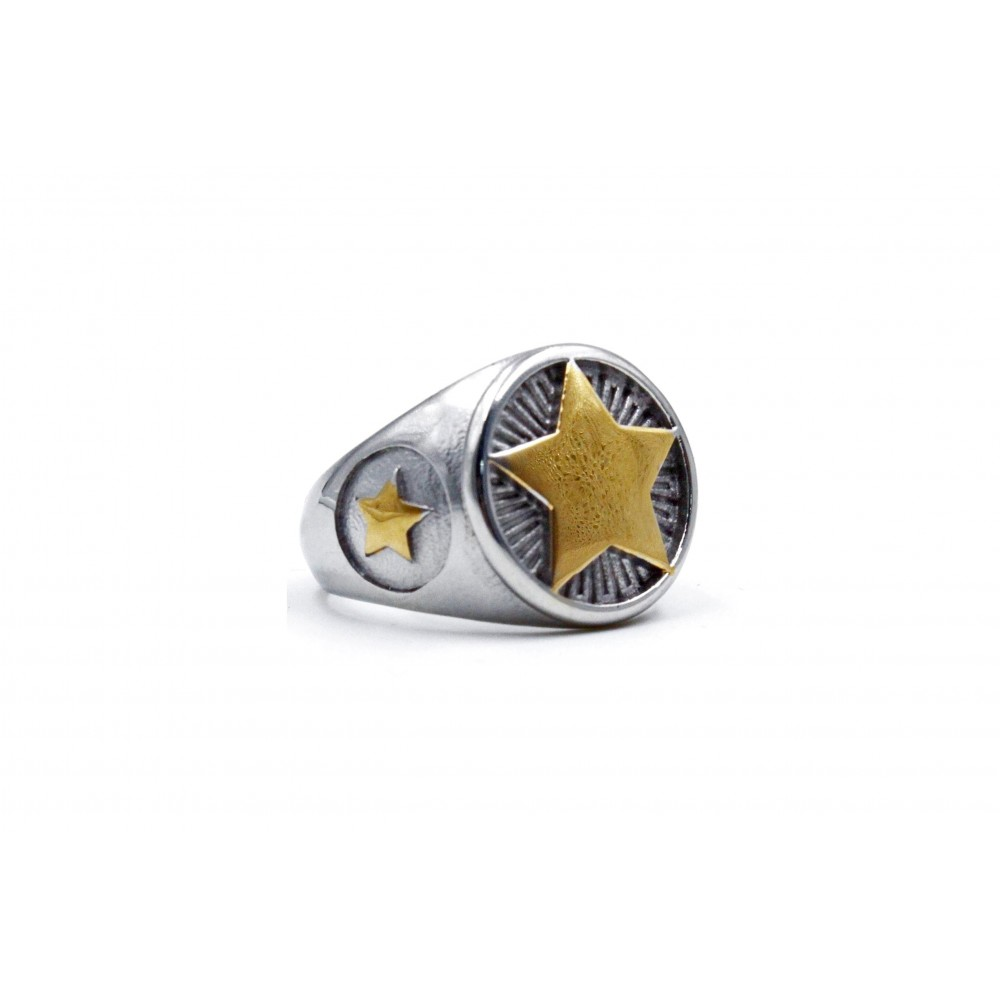 Ring Yellow Five-Pointed Star