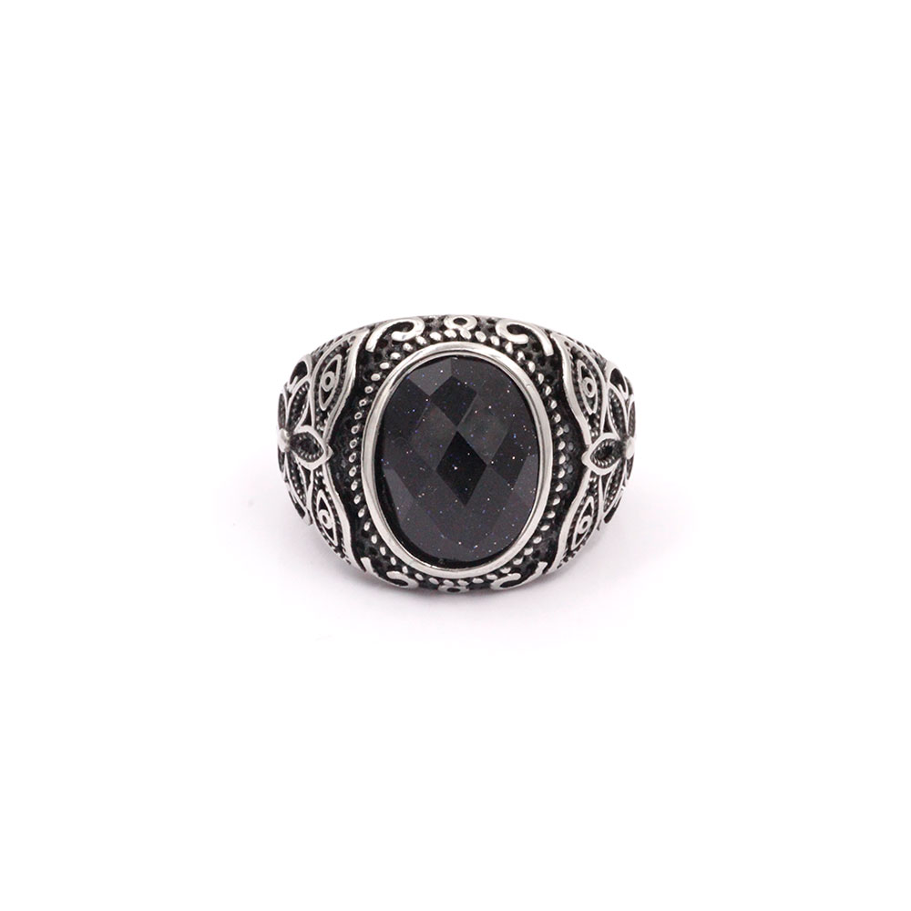 Ring with Black Gem