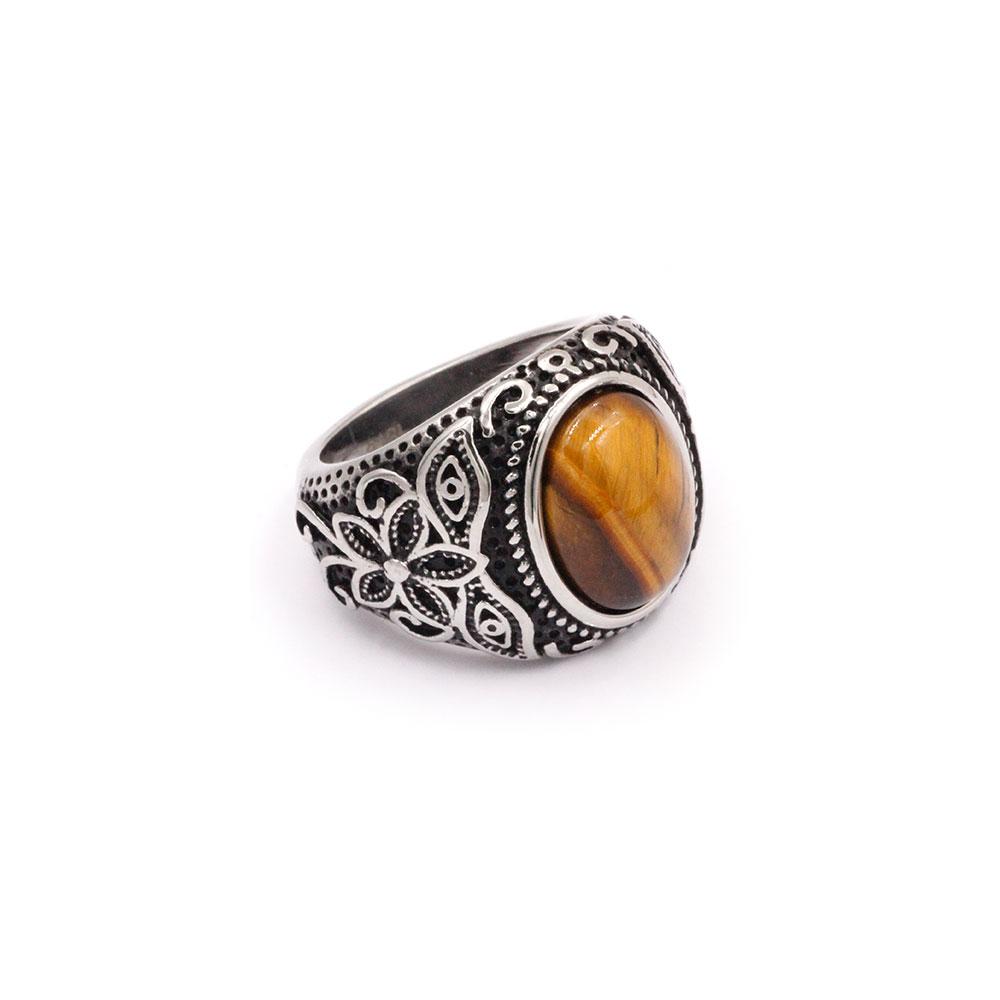 Tiger's Eye Stone Ring