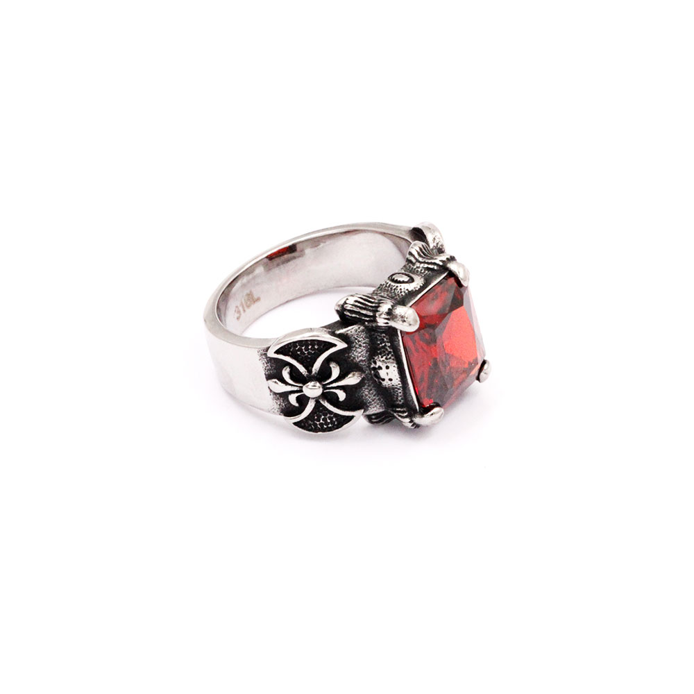 Ring with Red Gem