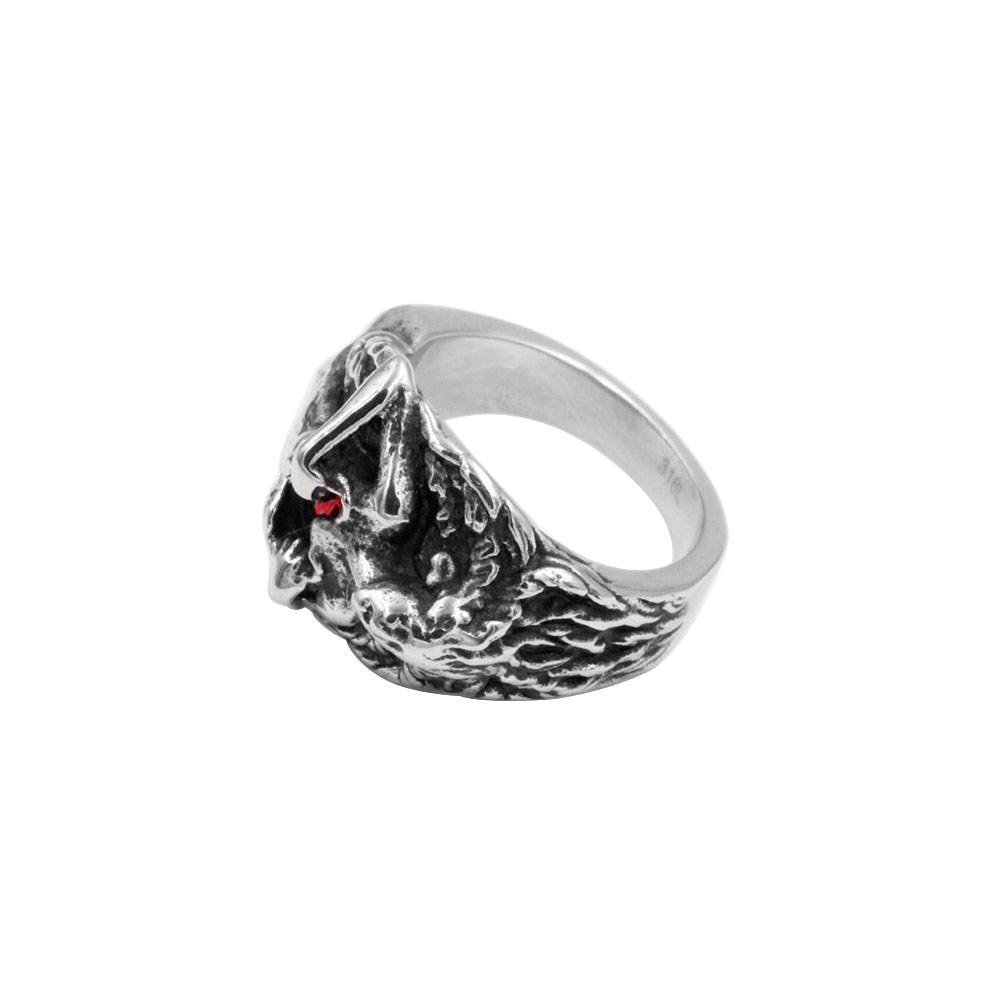 Ring Woman with Red Gem Heart
