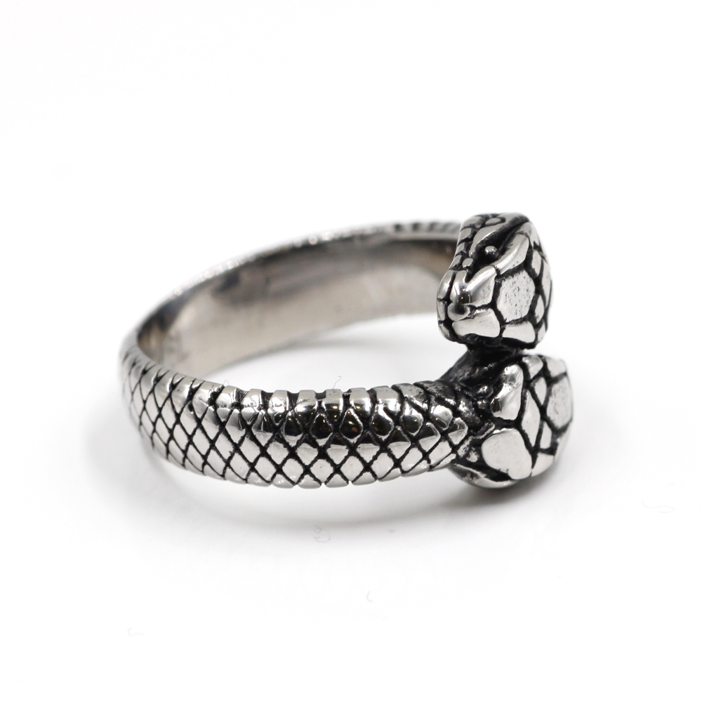 Ring with Two Headed Snake Gothic