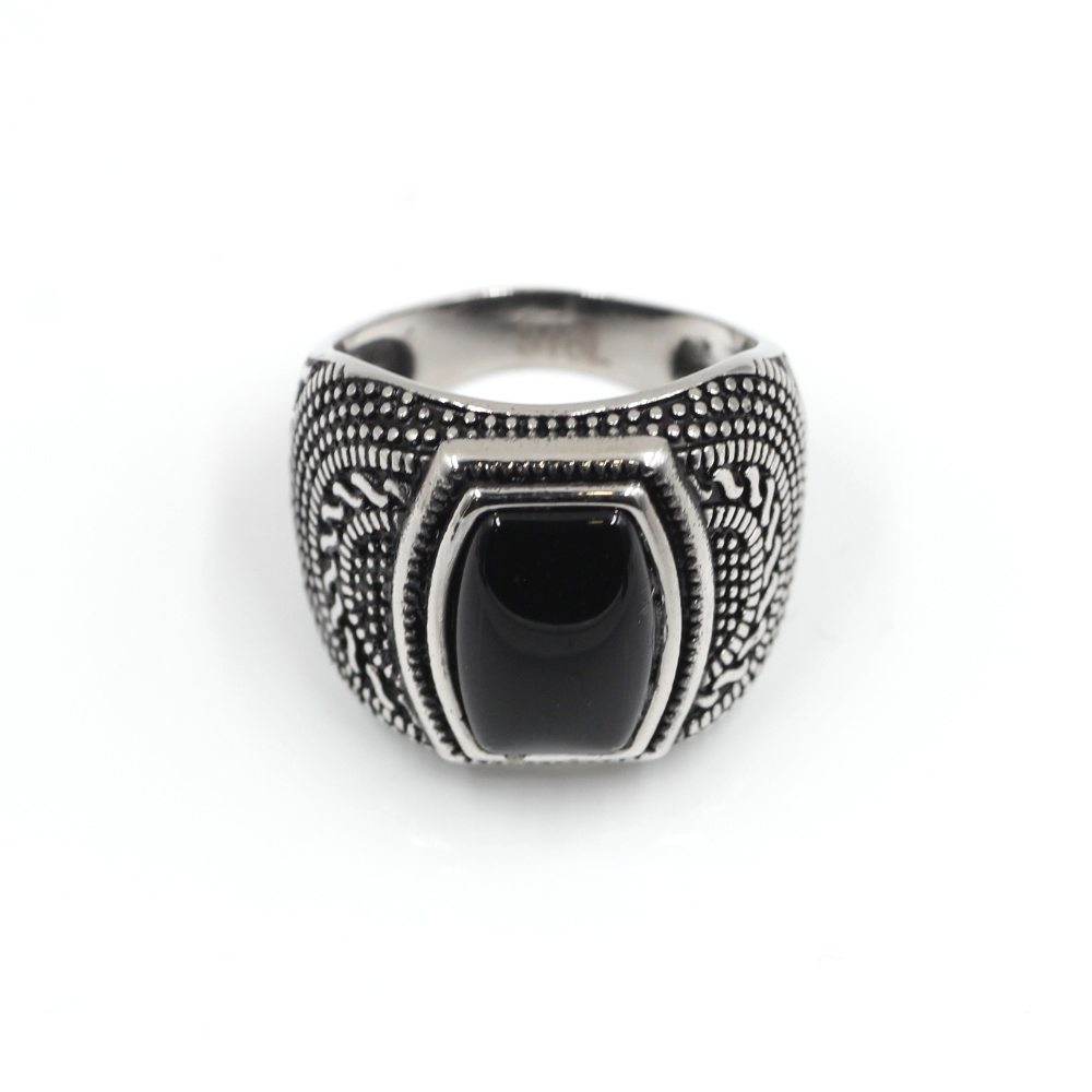Ring with Black Gem