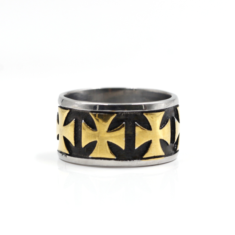 Ring with Yellow Maltese Cross