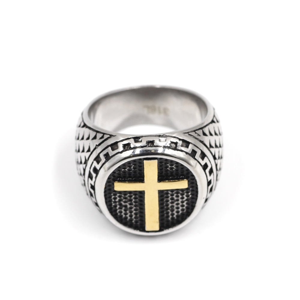 Ring with Yellow Cross