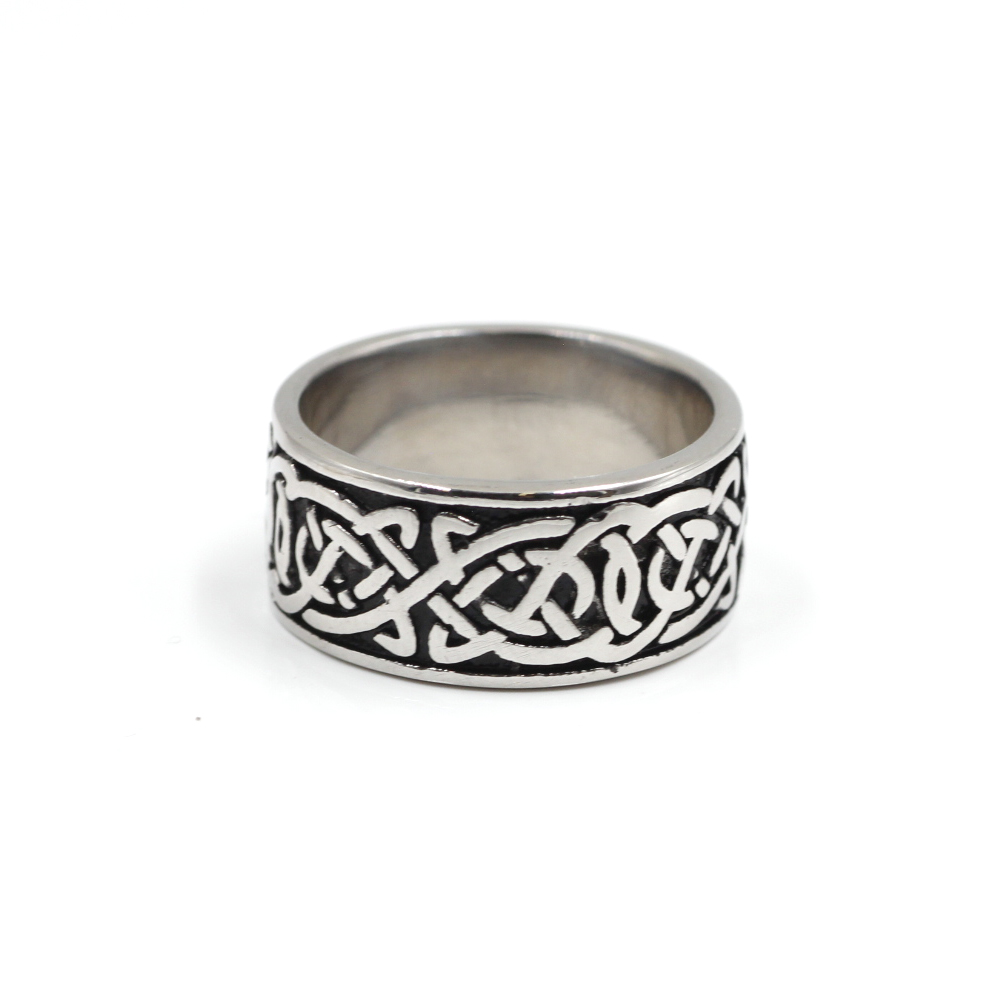 Ring with Celtic intertwined Vikings symbol