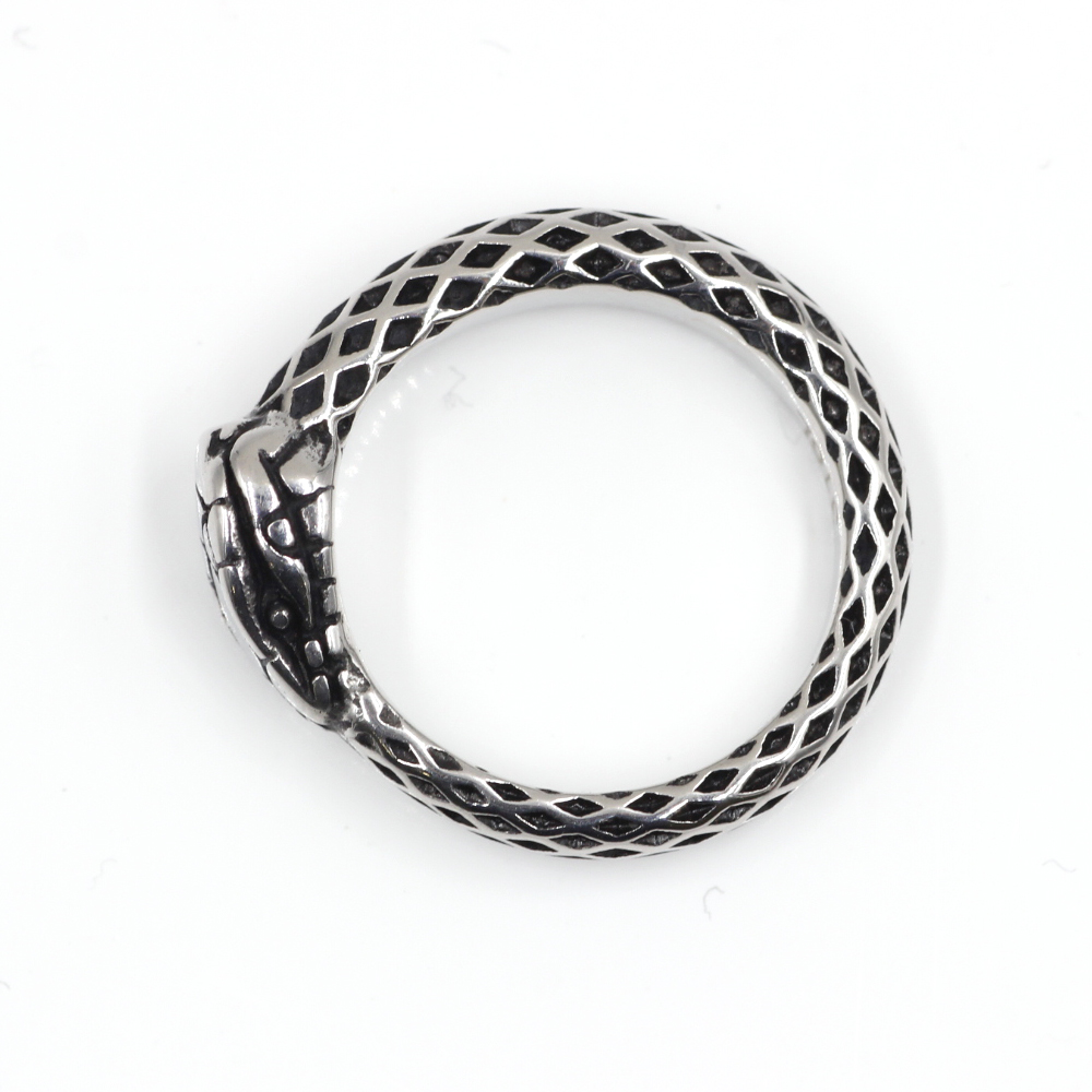 Ring with Ouroboros Snake