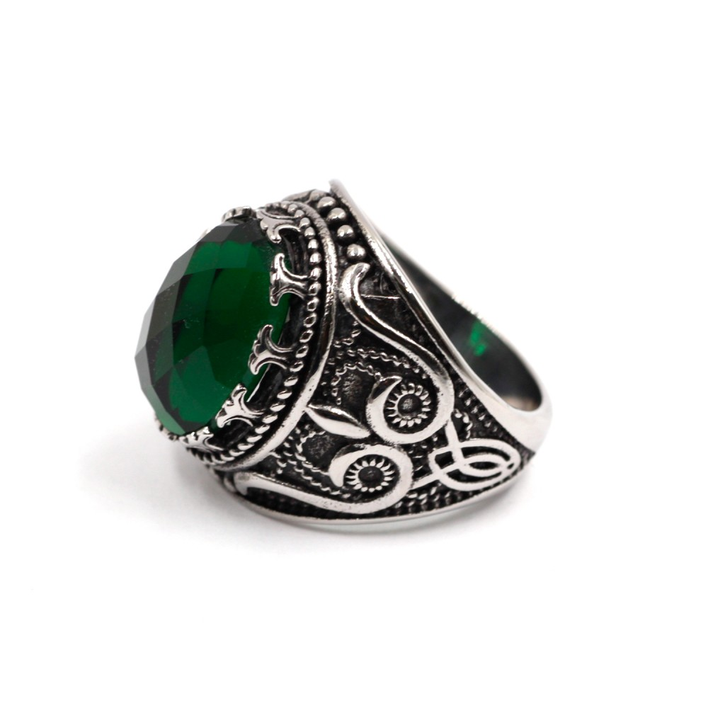 Ring with Green Gem