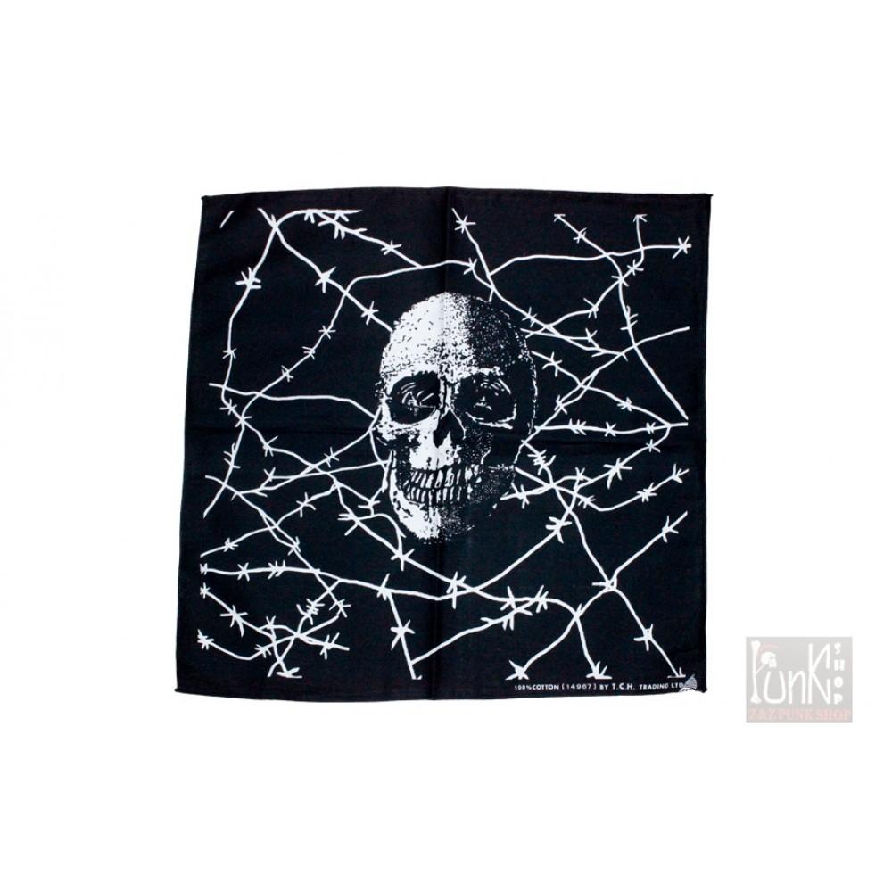 Square Bandana Skull in Net