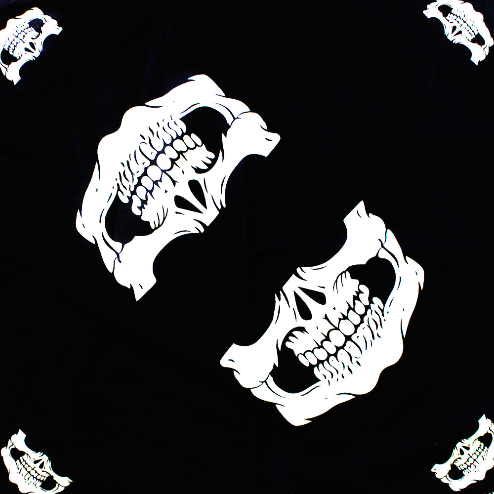 Square Bandana Mouth of Skull