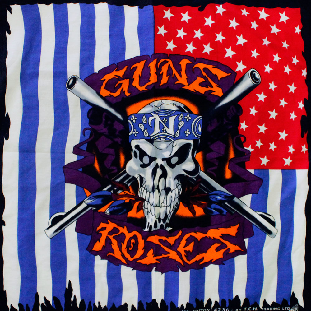 Square Bandana Gun and Roses