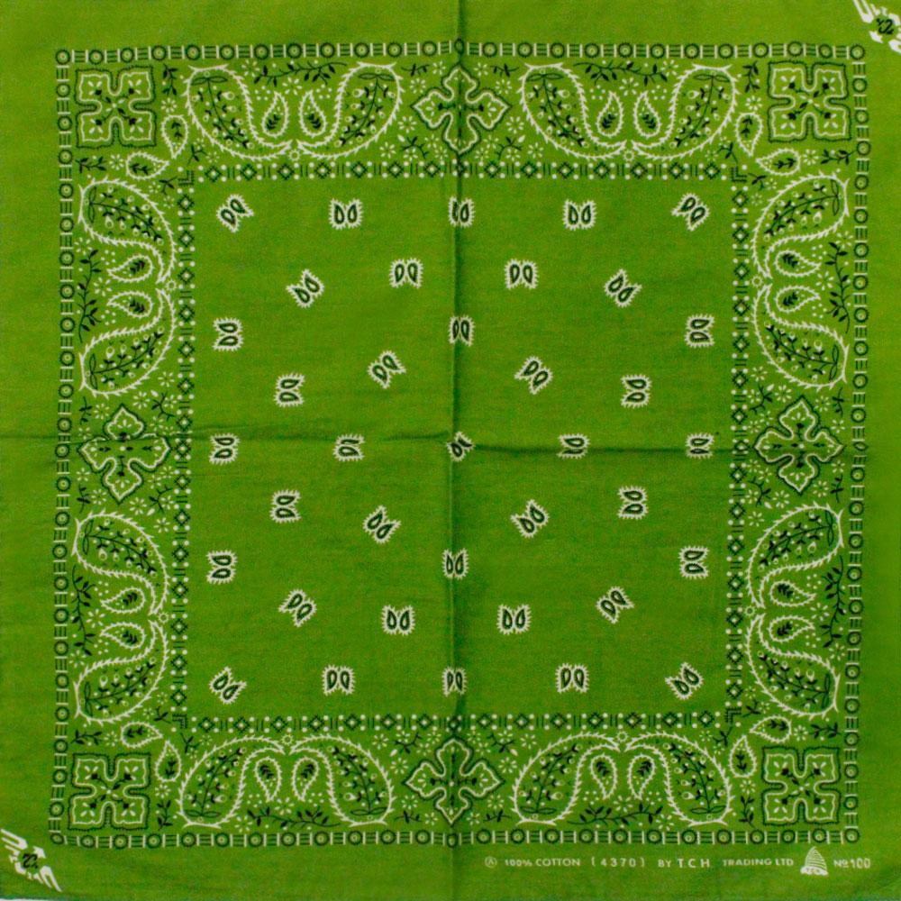 Square Bandana Green