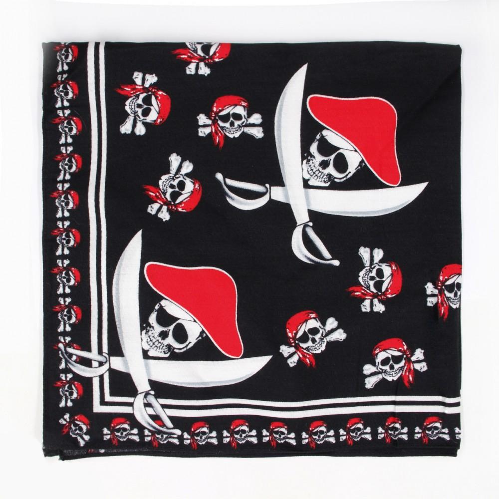 Square Bandana with Pirate Skull