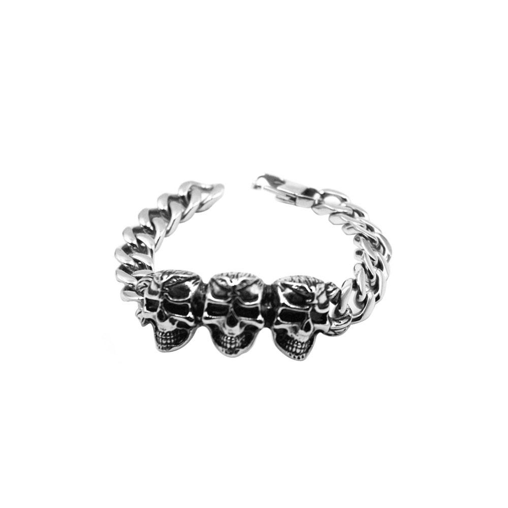Bracelet Triple Skull