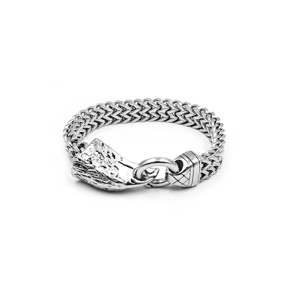 Steel Bracelet with Eagle Head