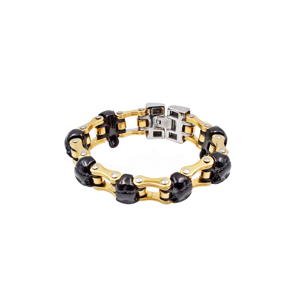 Steel Bracelet Black and Gold
