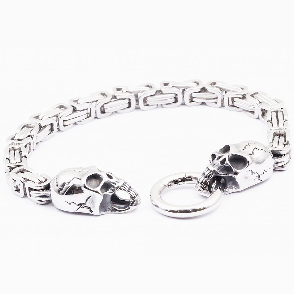Bracelet with Hook Closure and Condado Skull