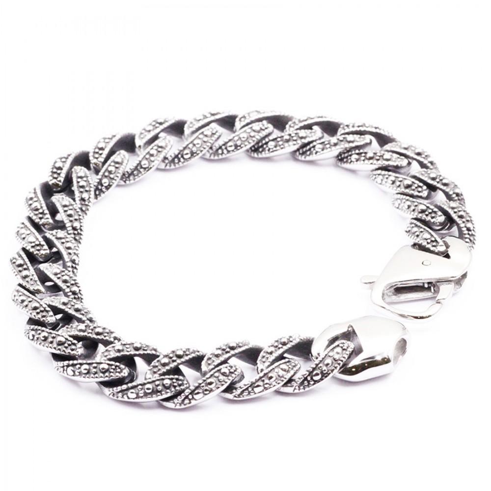 Biker Bracelet with  Link Chain