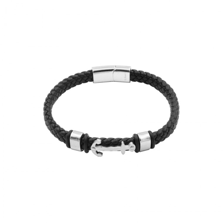 Bracelet in Leather and Steel