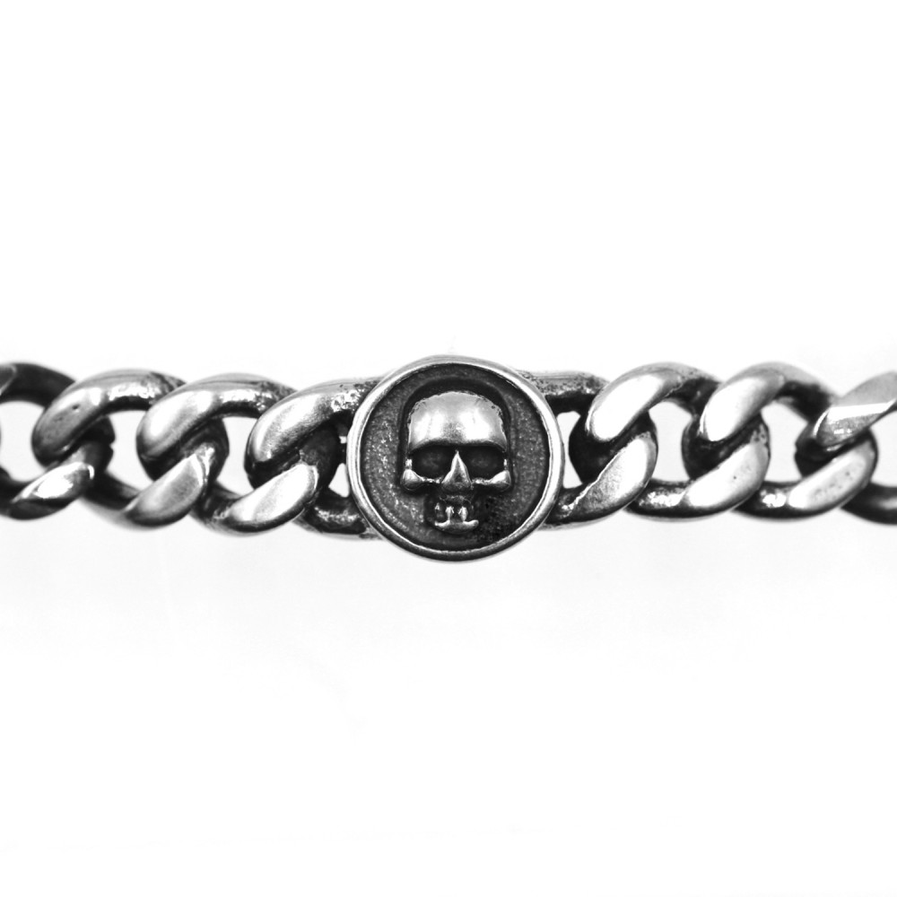 Bracelet Chain Skull in Steel