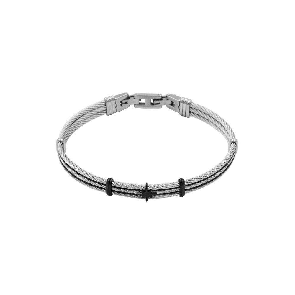 Bracelet in Rope and Steel