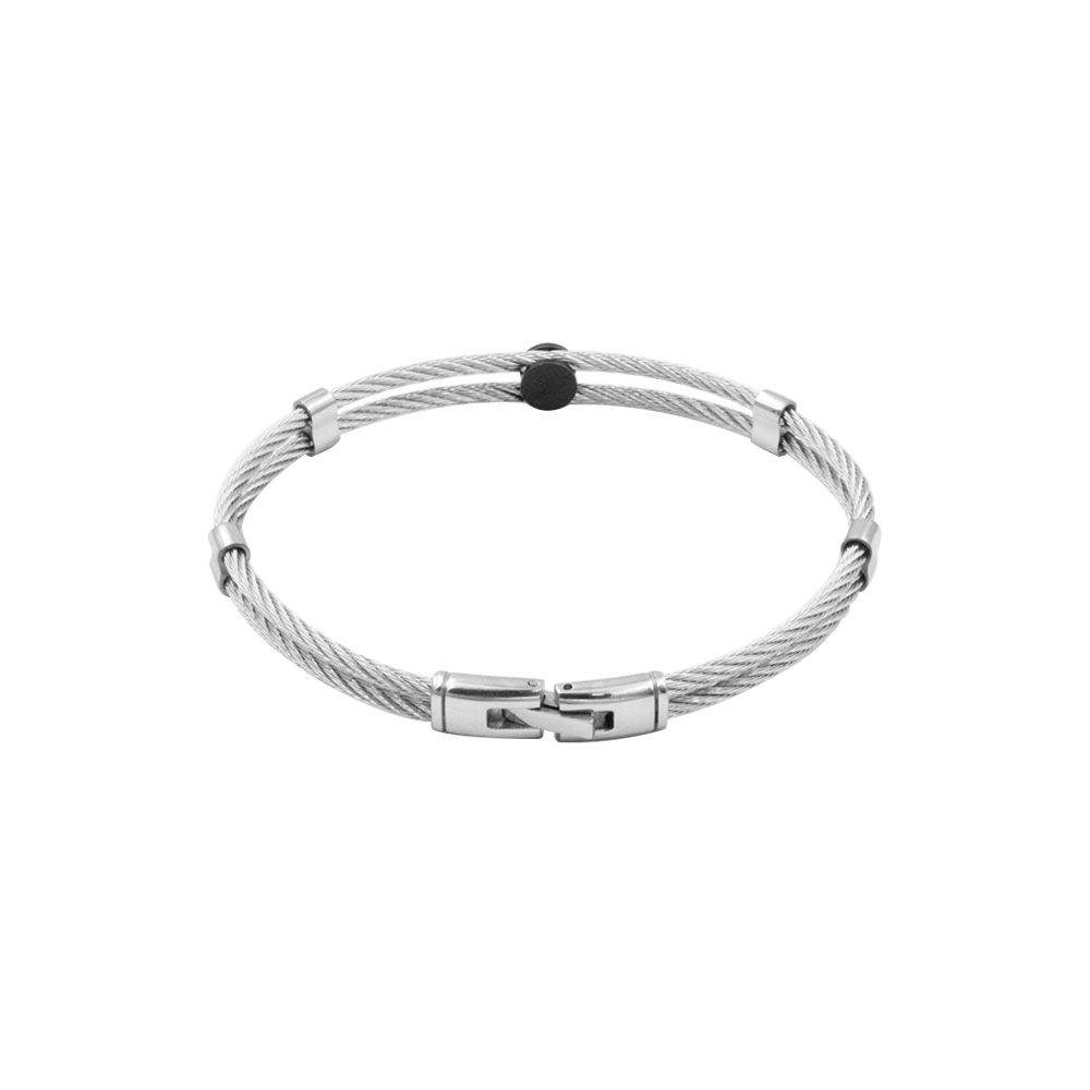 Rope Bracelet with Steel