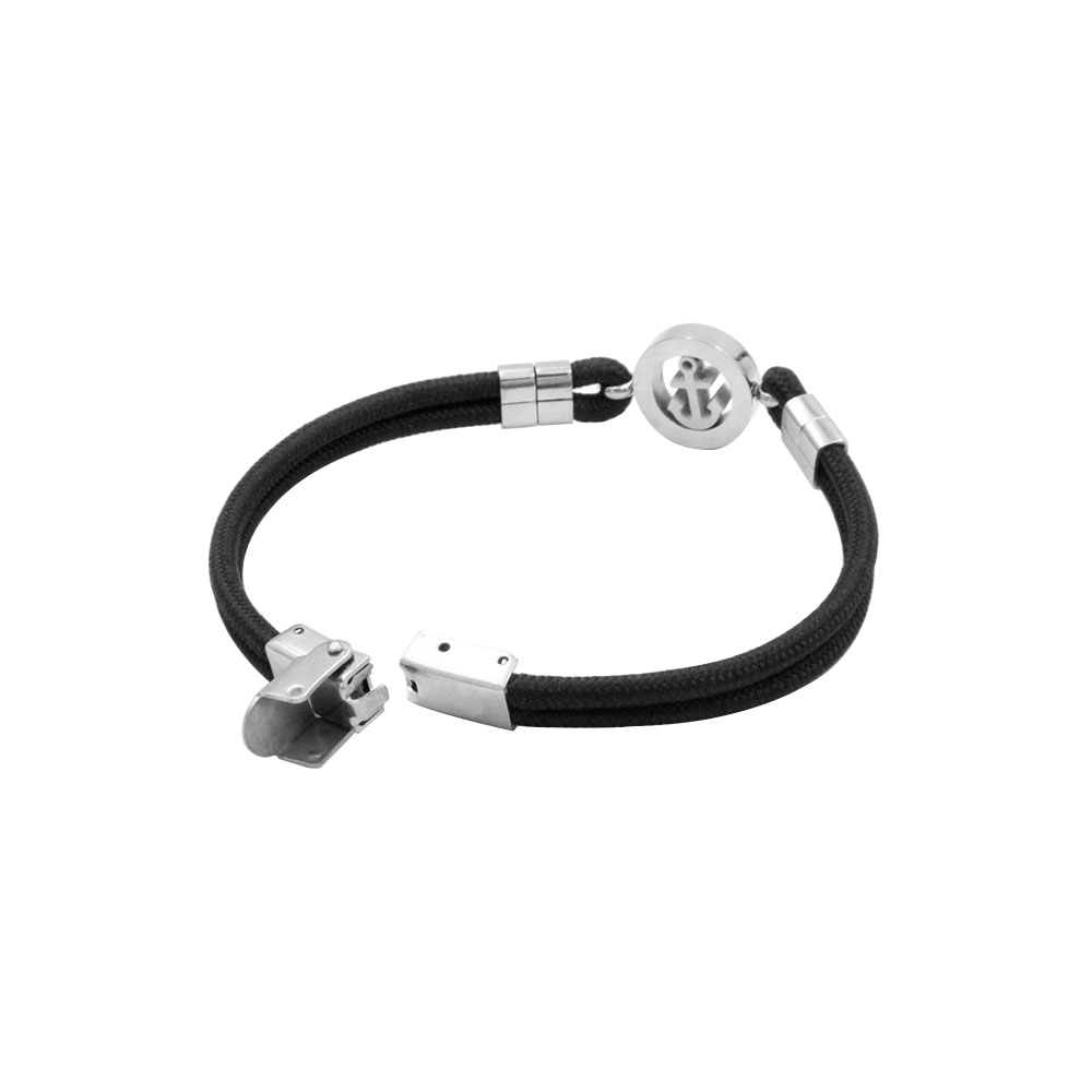 Rope Bracelet with Anchor and Steel