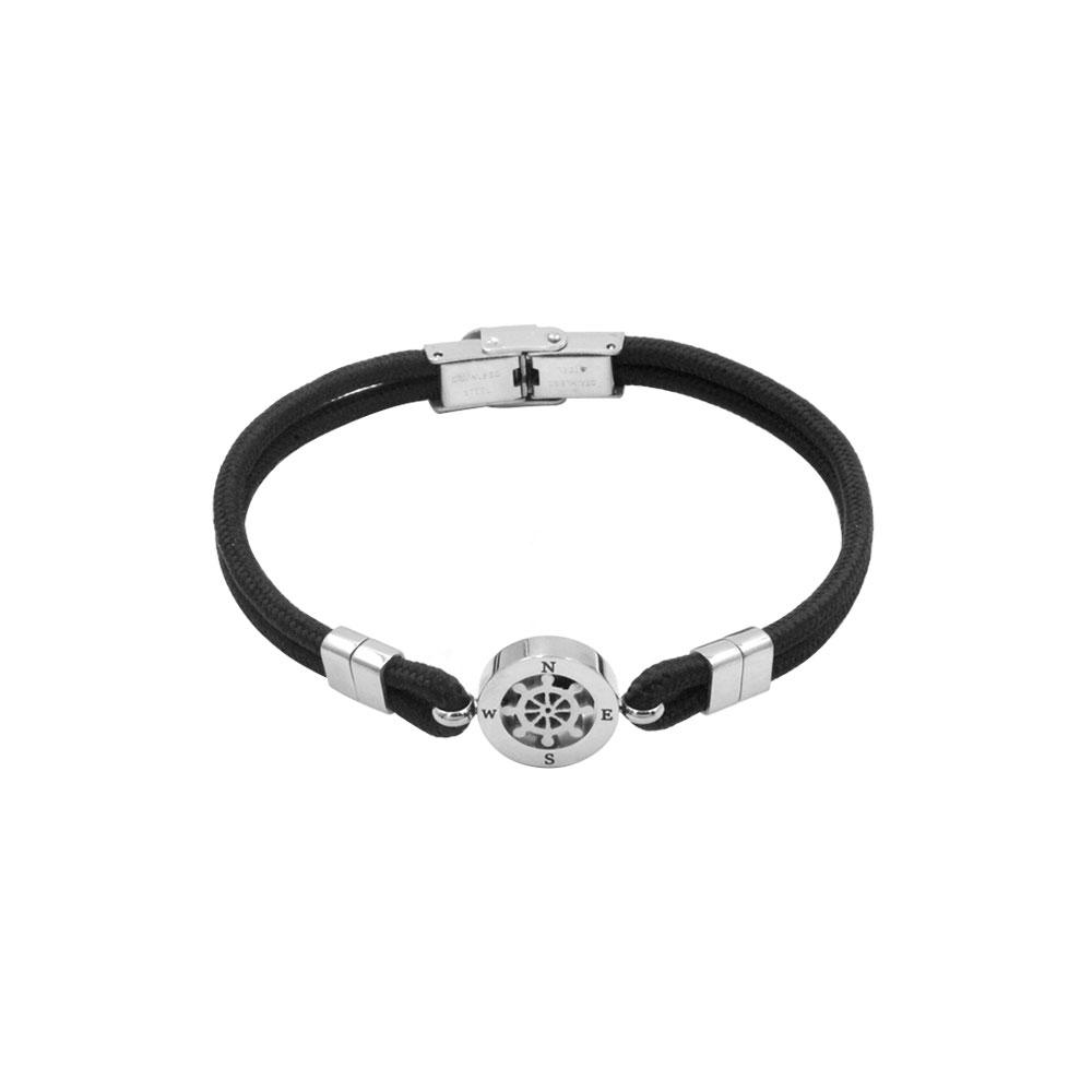 Rudder Bracelet in Rope and Steel